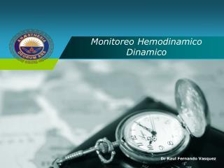 Monitoreo Hemodinamico Dinamico