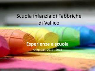 Scuola infanzia di Fabbriche  di  Vallico