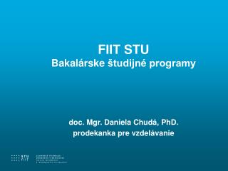 FIIT STU B akalársk e  študijné programy