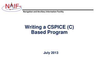 Writing a CSPICE (C) Based Program