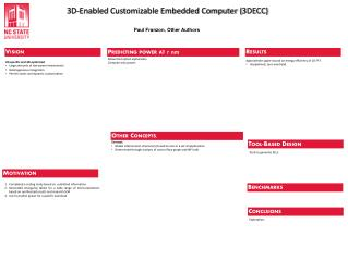 3D-Enabled  Customizable Embedded Computer (3DECC)