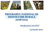 Programul National de Dezvoltare Rurala  2008-2013