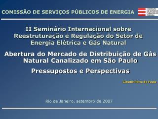 COMISS O DE SERVI OS P BLICOS DE ENERGIA