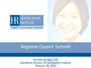 Regional Council Summit