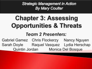 Chapter 3: Assessing Opportunities  Threats