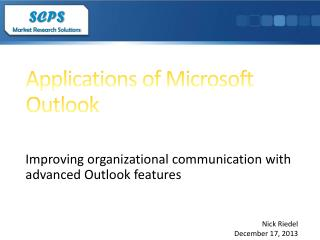Applications of Microsoft Outlook