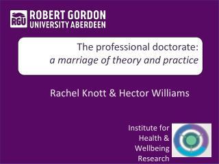 Rachel Knott & Hector Williams