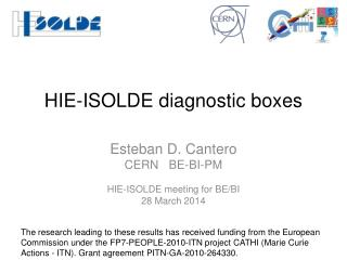 HIE-ISOLDE diagnostic boxes