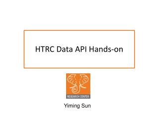 HTRC Data API Hands-on