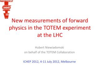 New measurements of forward physics in the TOTEM experiment at the LHC