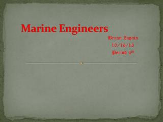 Marine Engineers