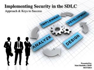 Implementing Security in the SDLC