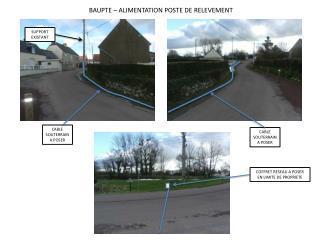 BAUPTE – ALIMENTATION POSTE DE RELEVEMENT