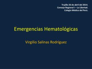Emergencias Hematológicas
