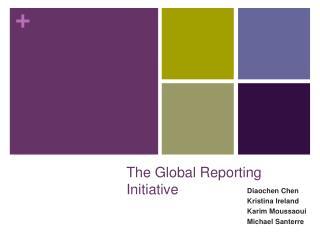 The Global Reporting Initiative