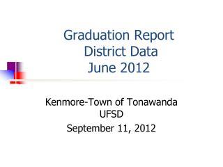 Graduation Report  District Data June  2012