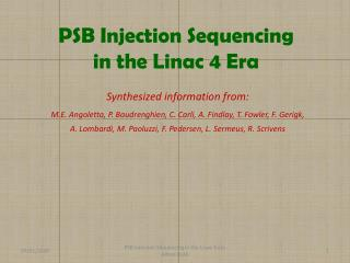 PSB Injection Sequencing in the  Linac  4 Era