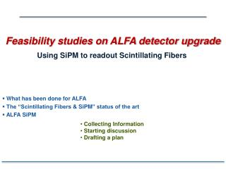 Feasibility studies on ALFA detector upgrade
