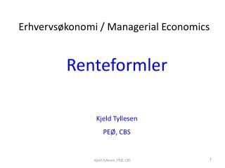 Renteformler Kjeld  Tyllesen PEØ, CBS