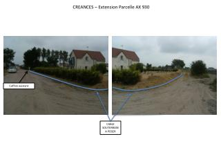 CREANCES – Extension Parcelle AX 930