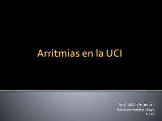 Arritmias  en la UCI