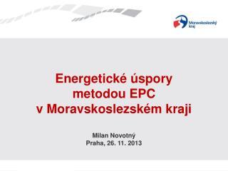 Energetické úspory  metodou EPC v Moravskoslezském kraji