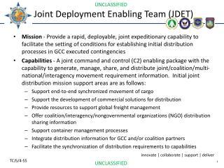 Joint Deployment Enabling Team (JDET)