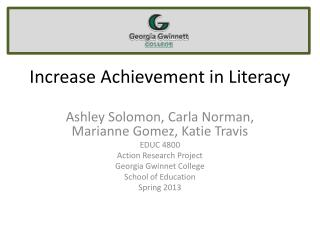 Increase Achievement in Literacy