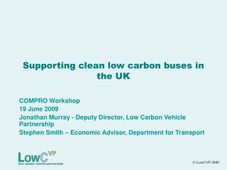 Supporting clean low carbon buses in the UK