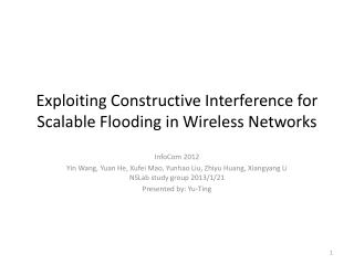 Exploiting Constructive Interference for Scalable Flooding in Wireless Networks