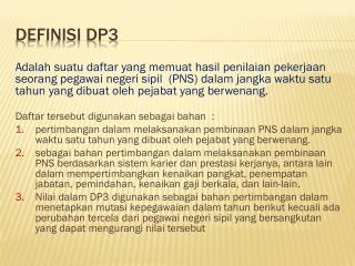 DEFINISI DP3