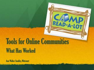 Tools for Online Communities
