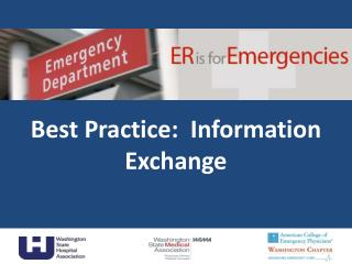 Best Practice:  Information Exchange