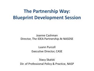 The Partnership Way: Blueprint Development Session