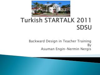 Turkish STARTALK 2011 SDSU