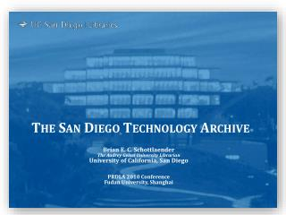 The San Diego Technology Archive