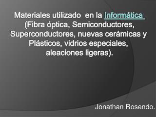 Jonathan Rosendo.