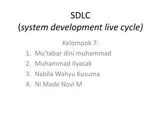 SDLC ( system development live cycle)