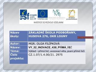 Zkopíruj si logo EU do své práce