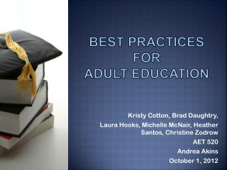 Best practices for  adult education
