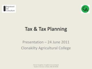 Tax  Tax Planning