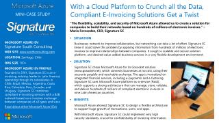 MICROSOFT AZURE ISV :  Signature South Consulting WEB SITE :  southconsulting