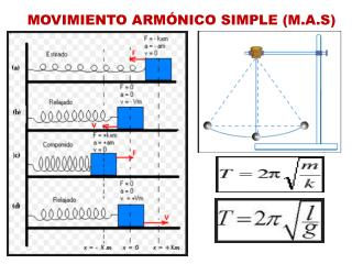MOVIMIENTO ARMÓNICO SIMPLE (M.A.S )