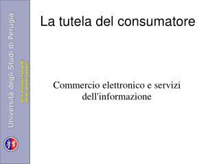 La tutela del consumatore