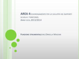 PROGETTO  DI  EDUCAZIONE AMBIENTALE Anno scolastico 2013/2014 Ist .Onnicomprensivo di  Borgorose