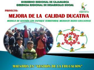 PROYECTO:  MEJORA DE LA  CALIDAD DUCATIVA