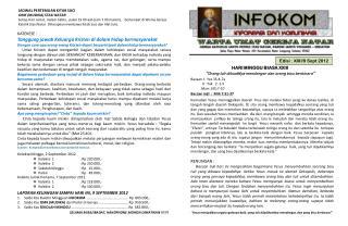 Edisi :  XXII/9 Sept 2012