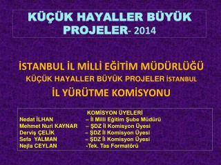 KÜÇÜK HAYALLER BÜYÜK PROJELER - 2014