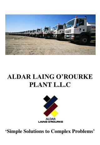 ALDAR LAING O ROURKE PLANT L.L.C