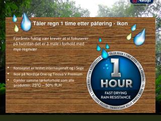Tåler regn  1 time  etter påføring  -  Ikon